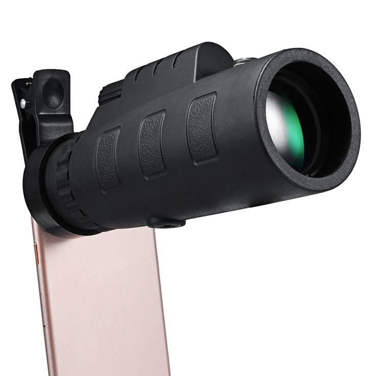 40x60 Zoom HD Telescopio óptico con brújula con clip Cámara Lente Clip para Smartphone