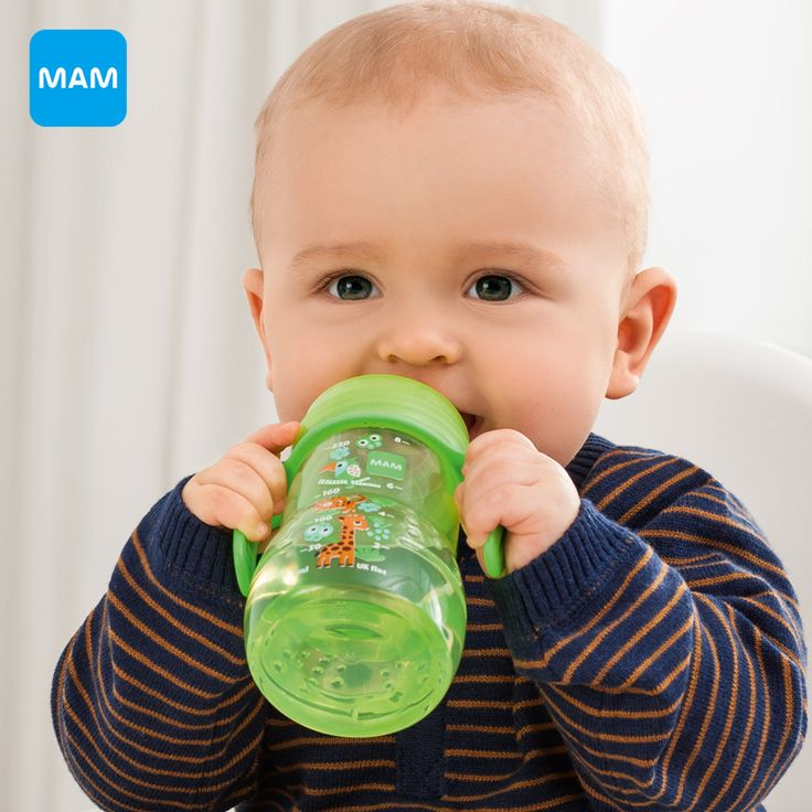 MAM Baby Trainer Bottle KUP 220ml Milk Bottle child Feeding kids cup child nurse bottle PP Material Free Shipping