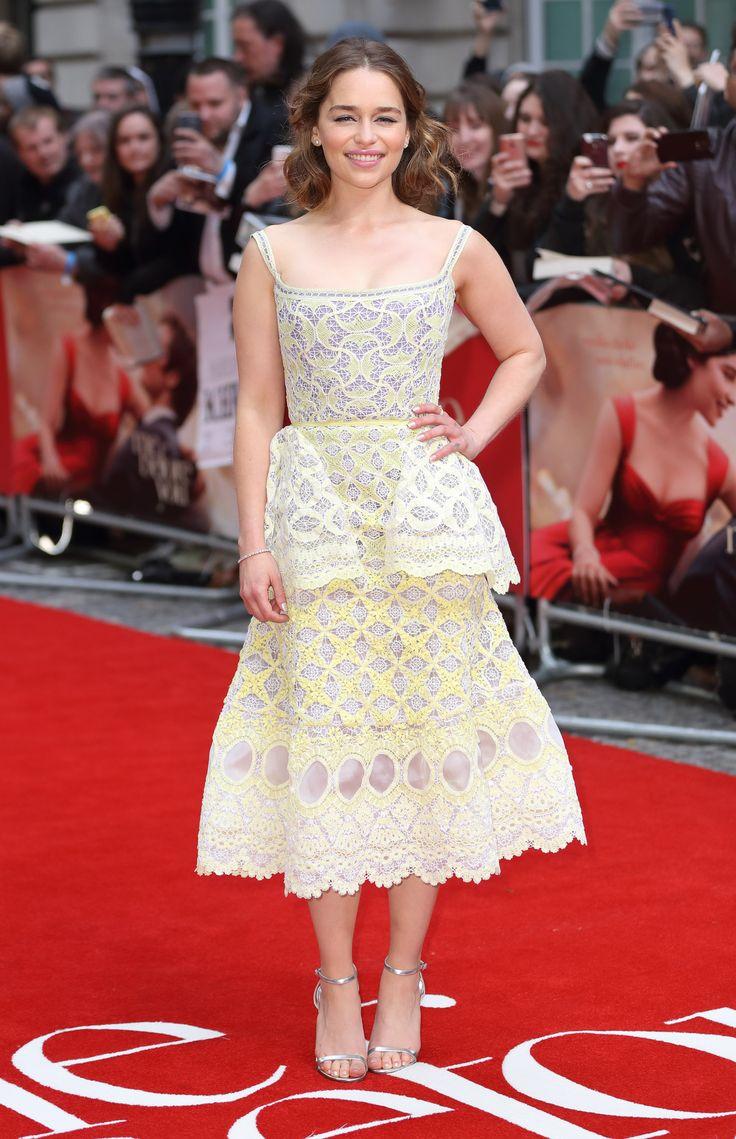 Wonderful Emilia Clarke wearing Ulyana Sergeenko Couture