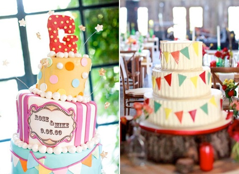 Bride And Groom Carnival Theme Cakes