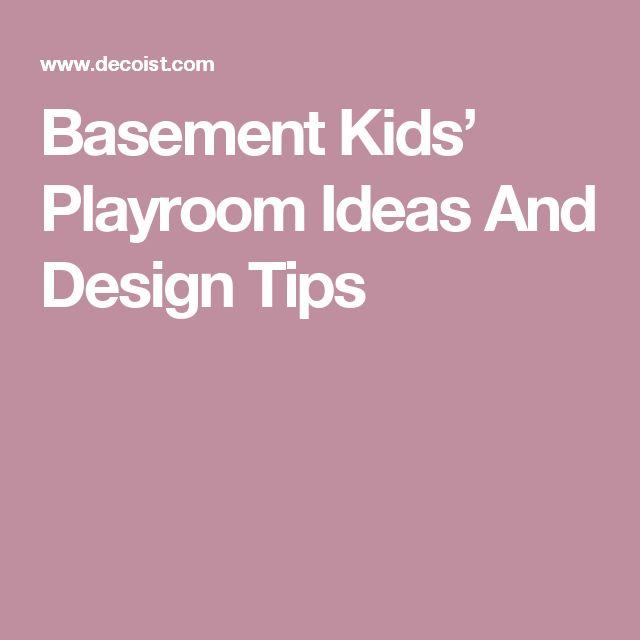 Basement Kids' Playroom Ideas And Design Tips