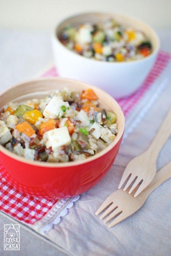 Riso misto selvatico in insalata: una ventata di colori per un periodo ricco di emozioni.