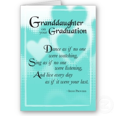 3739 Granddaughter Graduation Dance Card