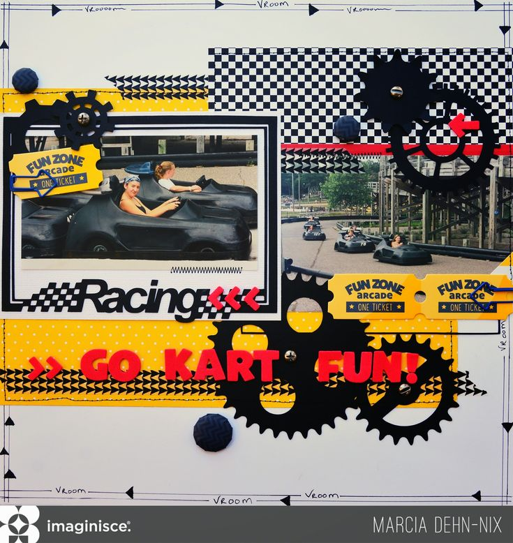 Source: Imaginisce Marcia Dehn-Nix 'Go Kart Fun!' There seems to be no end to all the kinds of family activities that can be scrapped with the Family Fun collection! Today, I have anotherlayout to share using the B sides of the papers. I was inspired by the black and white checkerboard paper. I immediately thought,that would be great… Read More »