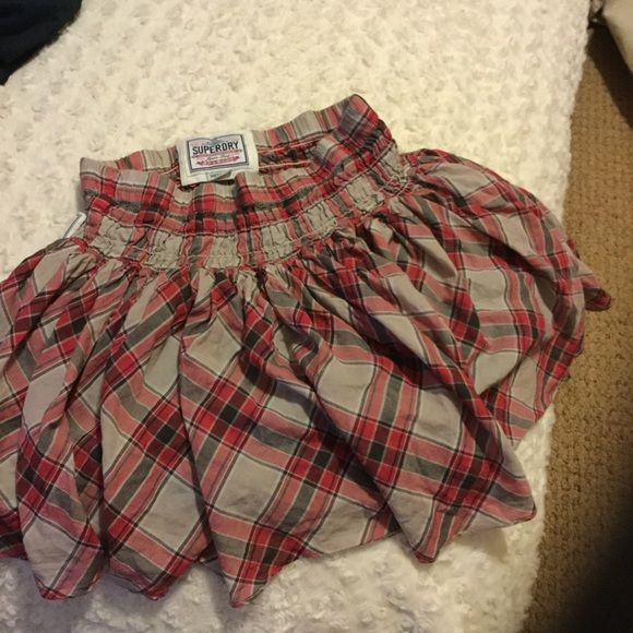 SUPERDRY SKIRT Short and sweet plaid fun fun fun..Super cute. Cult classic Superdry Skirts Mini