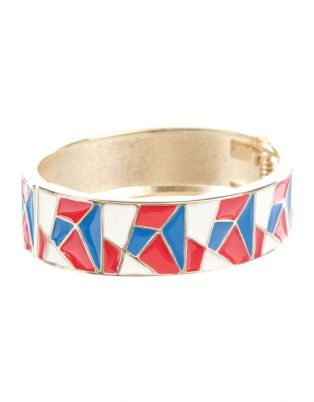 Majique Tiled Bangle - Olympics inspired accessories... fly the flag!