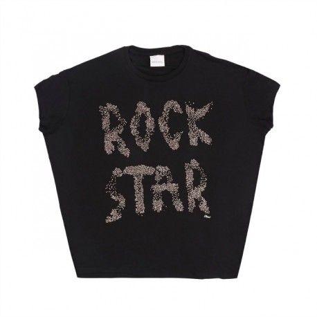 T-SHIRT DIESEL KIDS T-Shirt per bambina della Diesel in jersey di viscosa di colore nero dal taglio ampio e comodo con borchiette in metallo dorato. T-Shirts Diesel Kid comode e versatili, per bambine che sognano di diventare delle grandi Rock Star. #diesel #dieselkid #t-shirt #shirts #girl #magliette #kid #junior #child #children #abbigliamento #clothing #shoponline #ecommerce #fashion #moda #saldi #sconti #promozioni #rockstar