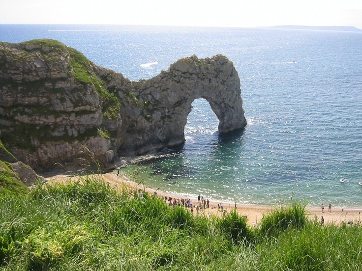 Durdle door, Dorset. 1 mile walk along coast path from West Lulworth car park. Beautiful with lovely Man of War beach next to it down some steps. Even do-able with small children.
