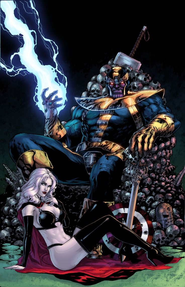 Thanos & Lady Death by Ace Continuado