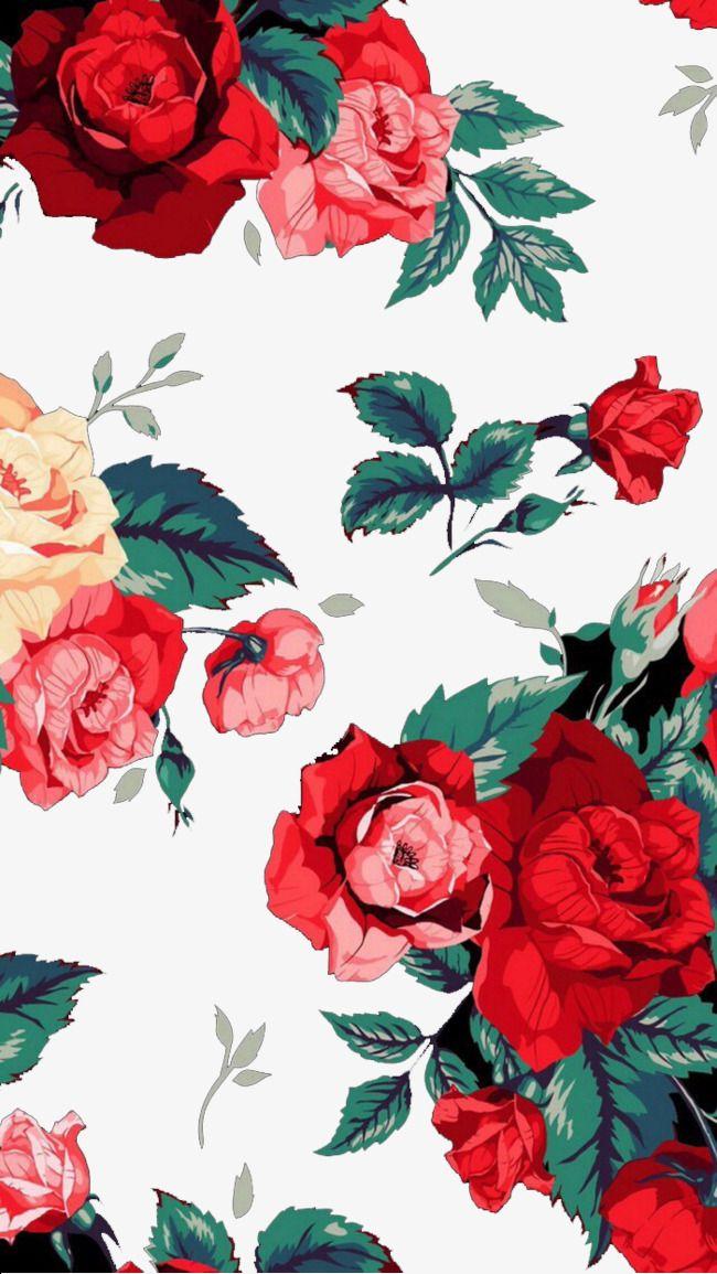 Big Red Peony Flower Phone Wallpaper Vintage Flowers Wallpaper
