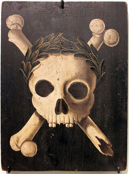 Plague panel with the triumph of death. Panels of this kind were placed on the walls of houses to warn against the plague (Deutsches Historisches Museum Berlin).