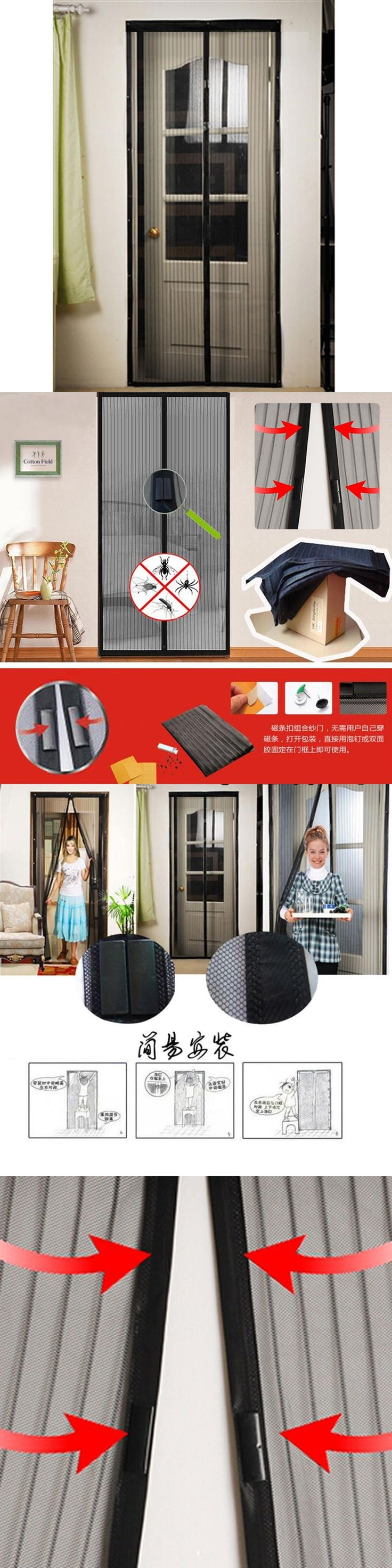 Sale Summer mosquito net curtain magnets door Mesh Insect Fly Bug Mosquito Door Curtain Net Netting Mesh Screen Magnets +B +P