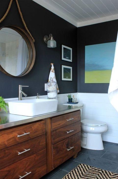 17 best ideas about dark blue bathrooms on pinterest - Dark blue bathroom ideas ...