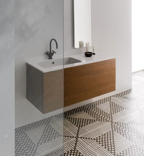 Bathroom floor tile, feature tile: iGattipardi Don Diego