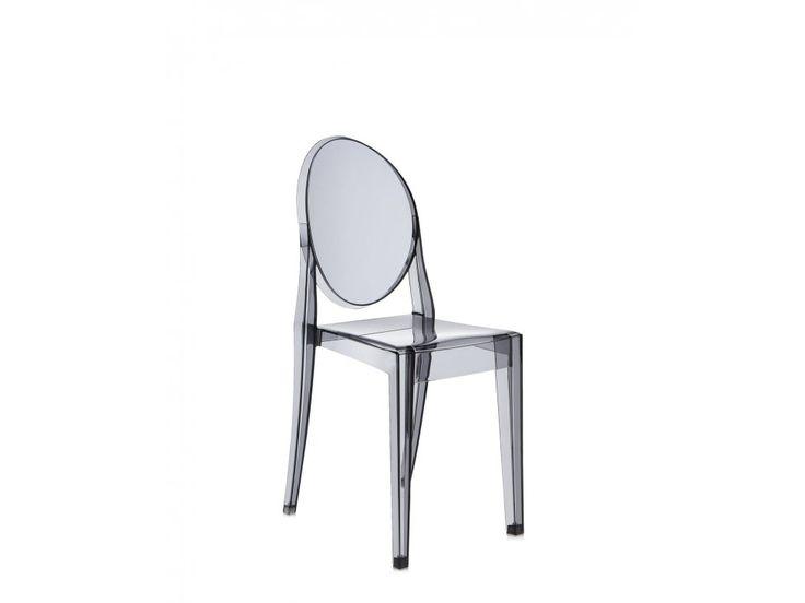Krzesło Victoria Ghost transparentne przydymione — Krzesła Kartell — sfmeble.pl