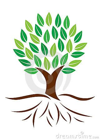 Stock Images: Tree with roots. Image: 22551544