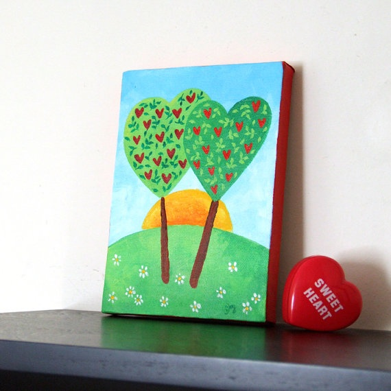Romantic tree Art :) A great little gift for a Valentine!