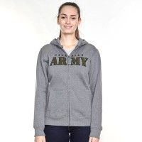 Canadian Army Women's Hooded Fleece Full Zip