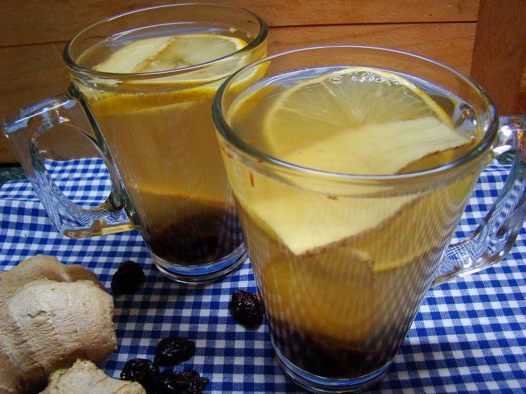 Zázvorový čaj s brusinkami