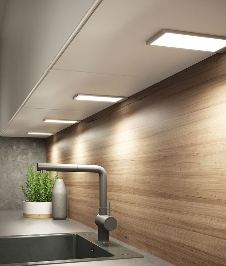 Under Kitchen Cabinet Lighting Ideas: Surface Mounted Slim LED Under Cabinet Light