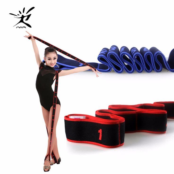Gymnastics Adult Latin Training Bands Pilates Yoga Stretch Resistance Bands Fitness Elastic Band Crossfit dance training workout #Affiliate