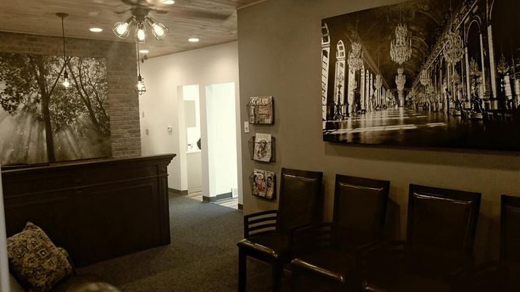 The newly remodeled reception area at Grand Dental - Wilmington.