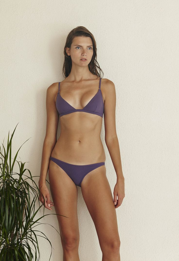 Tangiers Bikini Set in Textured Violet  http://www.bowerswimwear.com/collections/spring-2016-francois/products/tangiers-bikini-textured-violet