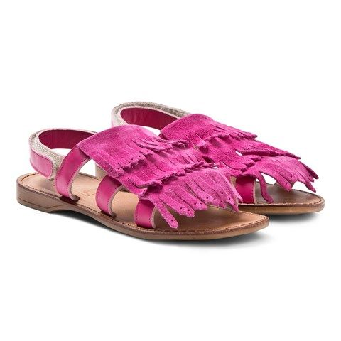 Step 2wo Pink Suede Fringe Sandals   Mexico   AlexandAlexa