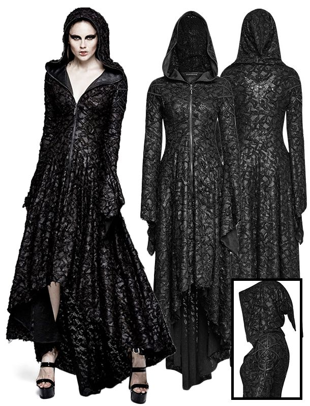 Punk Rave Witchcraft Hooded Dress - £99.99 : From ANGEL CLOTHING