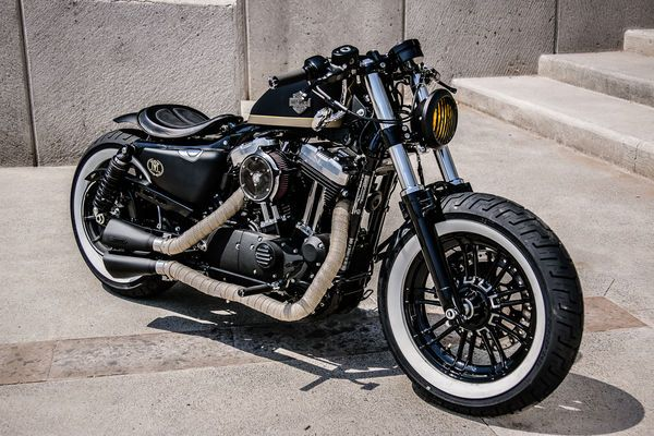 Custom Sportster Forty-Eight Bobber from Aftercycles in Queretaro, Mexico