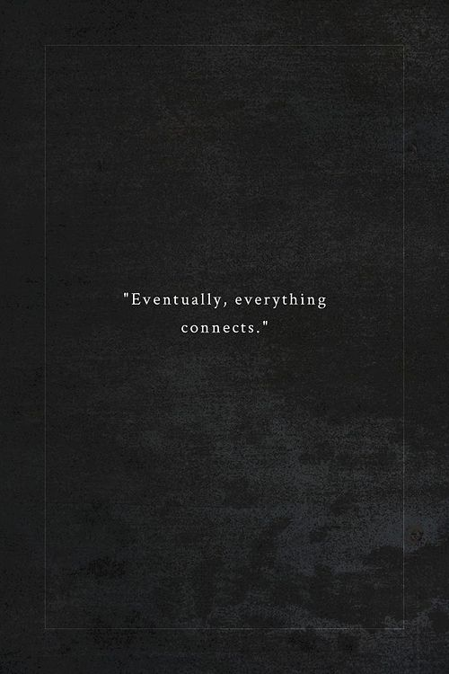 En ocasiones... todo encaja.