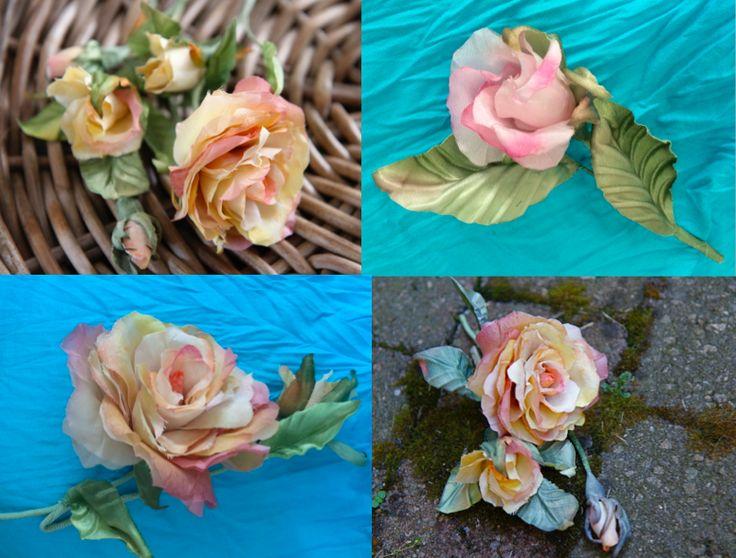 Розы из японского шелка Roze van Japanse zijde.#bloemenfantasie #bloemencadeau #zijdebloemen #silkflowers #шёлковыецветы #foto #bloemenkunst #handwerken #vrouwenaccessoires #verpakking #shabbychicstyl