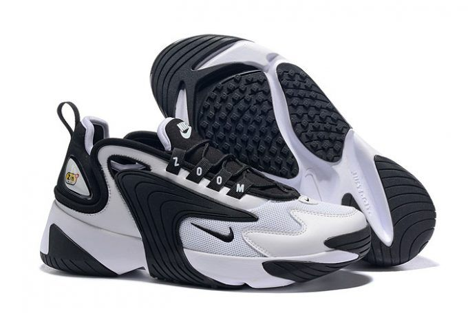 Nike Zoom 2K White Black Shoes AO0269-101 Free Shipping ...