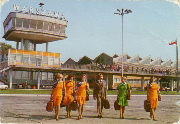 Aéroport de Varsovie dans les années 70.