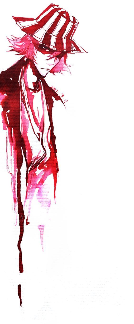 Bleach ~~ Blood Red suits him... Urahara Kisuke:
