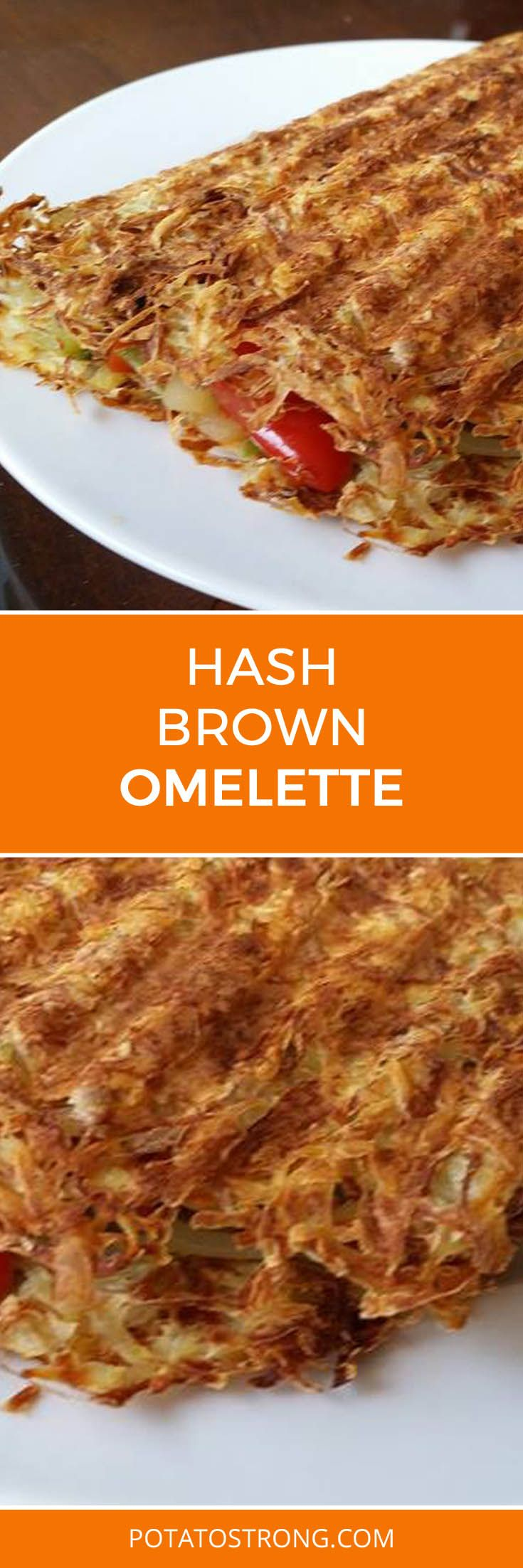 Hash brown omelette