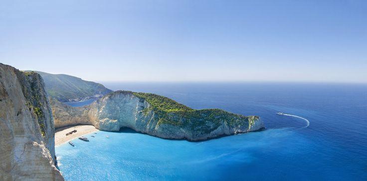 La playa de Shipwreck, en la isla griega de Zakynthos
