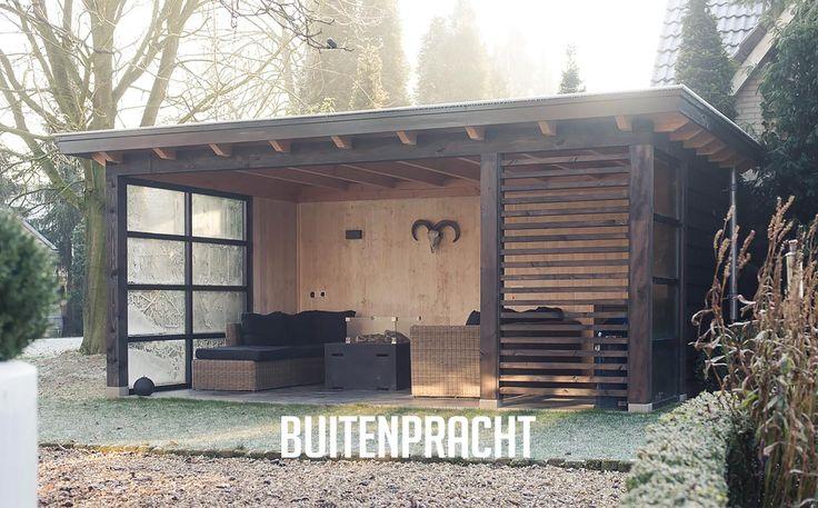 25 beste idee n over buiten open haard op pinterest buitenmeubilair tuin meubelen en - Prieel buiten ...