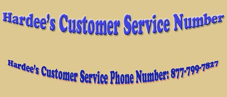 Hardee's Customer Service Phone Number: 877-799-7827