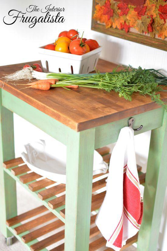 IKEA Bekvam Kitchen Cart With Food Safe Wooden Top Block island, Butcher block island and Ikea ...