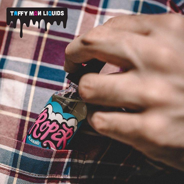 Pocket-friendly calorie-friendly tart & tangy filled licorice || @roper_eliquid (From Taffy Man Liquids)  #roper #ropereliquid #TaffyMan by vapeporn