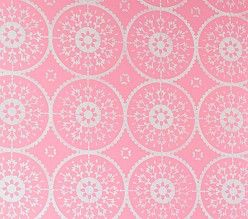 Pottery Barn Medallion Stencil...do this on AEH's light pink wall.