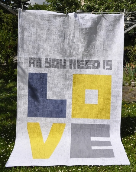 All you need is love quilt