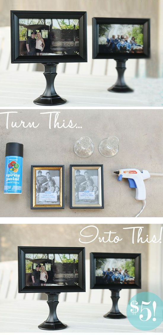 Mounted Picture Stand | Click Pick for 24 DIY Dollar Store Crafts for Teens | Homemade Dollar Store Gifts Ideas