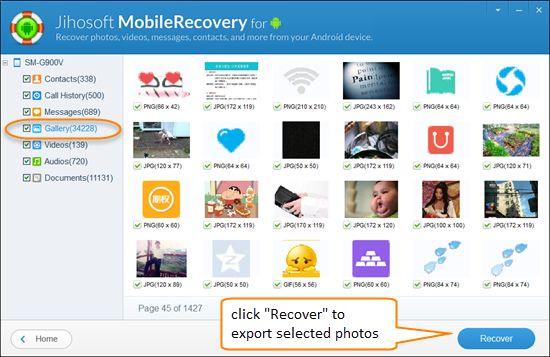 Gihosoft free Android Files Recovery is recommended for you to handle Android picture recovery as it's a world-class program with powerful features. This software can empower you to retrieve deleted and lost photographs from both Android phone internal memory and SD card.