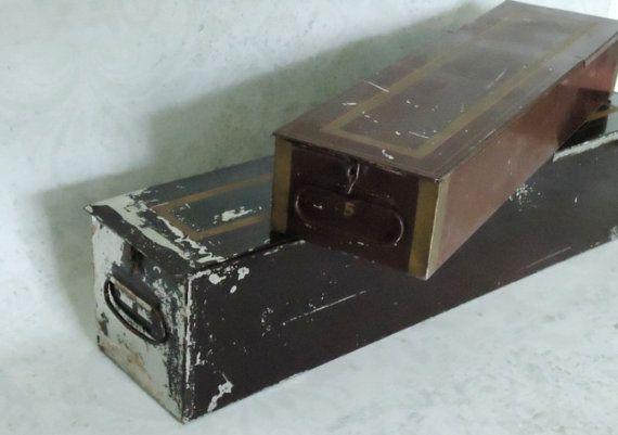 Bank Safe Deposit Box - Vintage Industrial Remington  Sherman Co. Safe Deposit Box