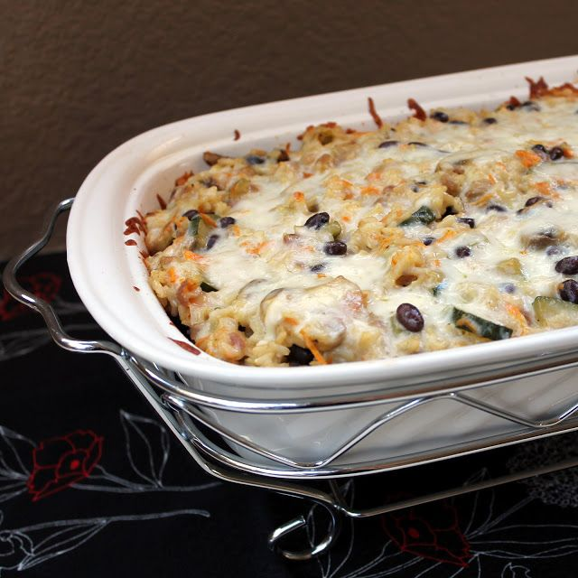 Brown Rice and Black Bean Casserole | Food I want to eat. | Pinterest