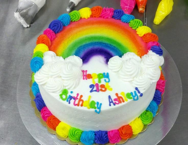 Birthday Cake Rainbow Design : Pin by ?? ?? on Air brush cakes Pinterest