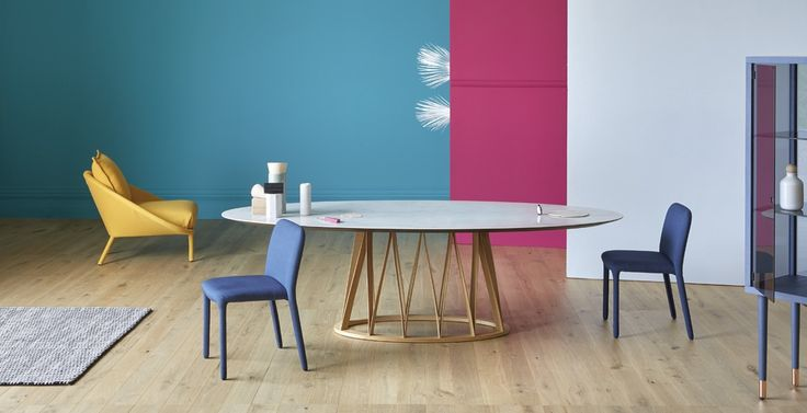 Design: Florian Schmid. Tavolo da pranzo Acco, progettato da Florian Schmid