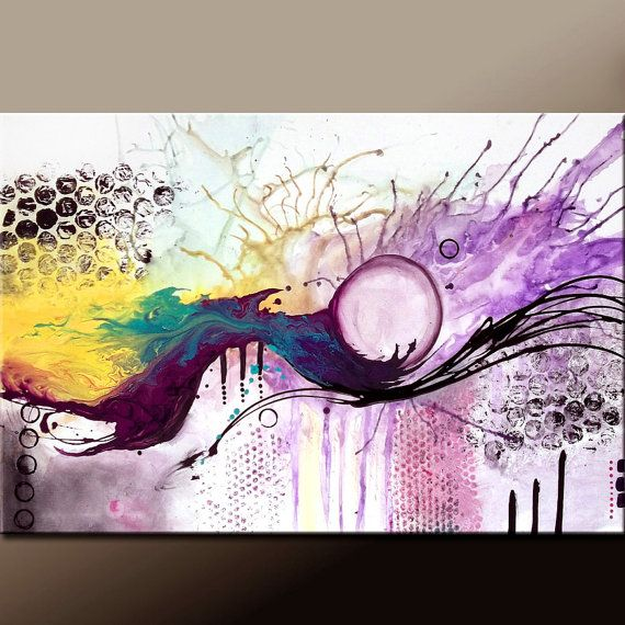 Big Canvas Art Modern Watercolor Abstract Ink Splash Big: Best 25+ Abstract Canvas Art Ideas On Pinterest